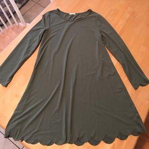 Olive long sleeve dress